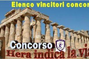 """BANDO DI CONCORSO """"HERA INDICA LA VIA""""     (Proclamazione dei Vincitori)"""