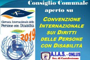 """2019 – 3 dicembre – Giornata internazionale dei diritti delle persone con disabilità.   Nessuno può dire """"non mi riguarda"""""""